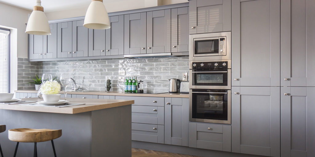 Shaker Ash In Dusk Grey Gallagher Kitchens